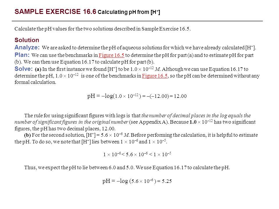 sample exercise log